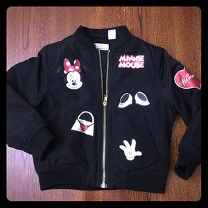 H&M Minnie Bomber Coat 3-4T - Perfect for Disney
